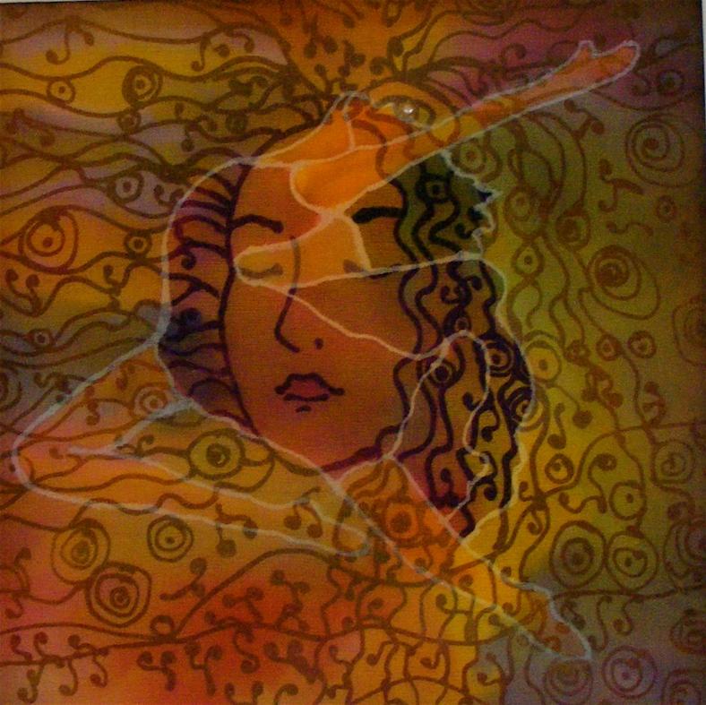 Leap of Faith, sheer & opaque silk art by Jo-Ann Jensen. joannjensen.com
